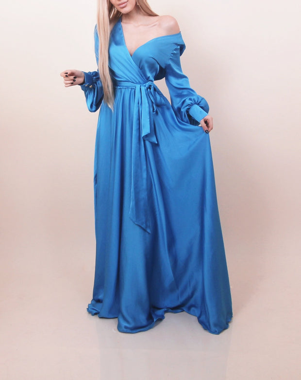 'LUMINESCENT' Ocean Blue Gown