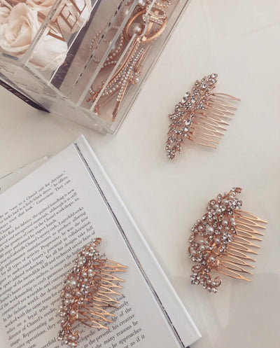 'Rhinestone hair pin'