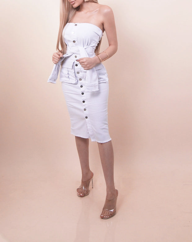 'STEFFY' Buttoned Dress