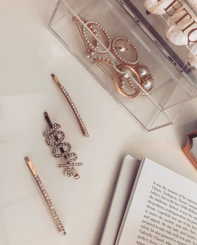 'Rhinestone hair pin' set