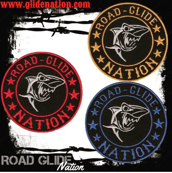 Road Glide Nation Round Patches