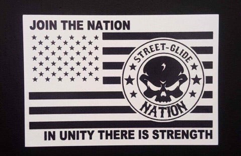 Street Glide Nation Square Flag Stickers