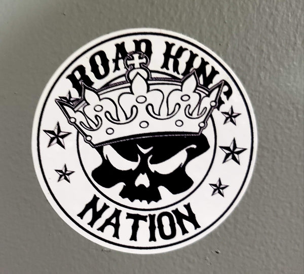 Road King Nation Round Stickers