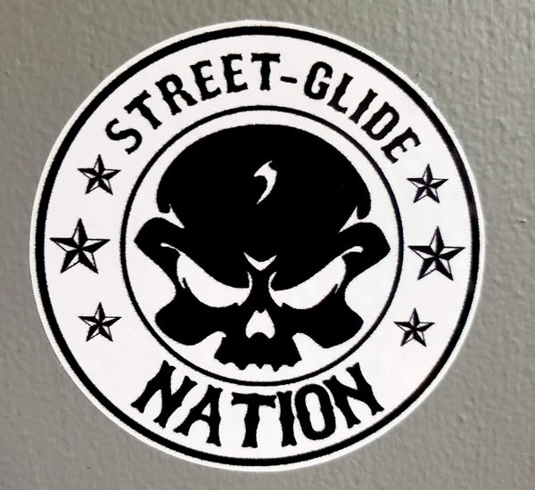 Street Glide Nation Round Stickers