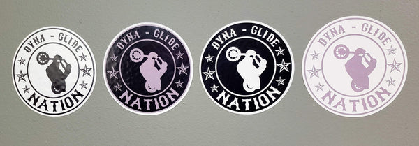 Dyna Glide Nation Round Stickers