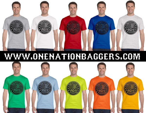 One Nation Baggers Men's Short Sleeve Tee (Skull on Chest)