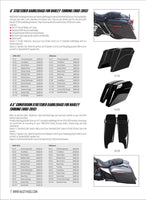 "4.5"" Conversion Stretched Saddlebags for Harley Touring 2008-1993"