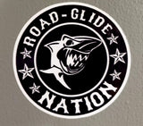Road Glide Nation Round Stickers