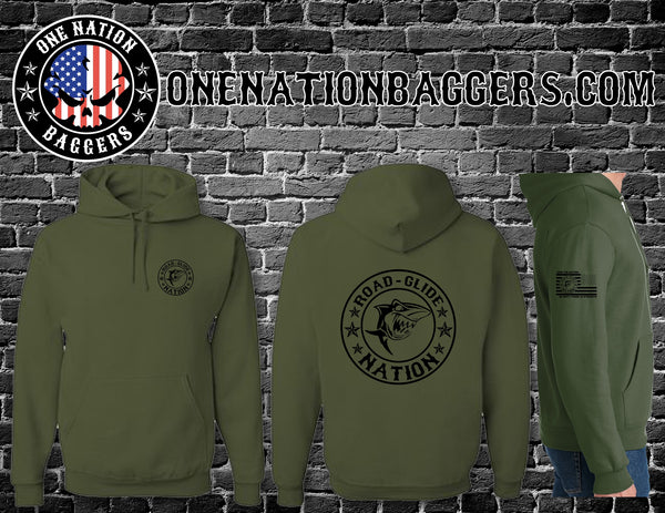 Road Glide Nation OD Green Pullover
