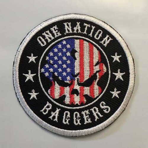 "One Nation Baggers Patch 3.25"" (Left side)"