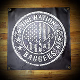 24x24 inch One Nation Baggers Vinyl Banners