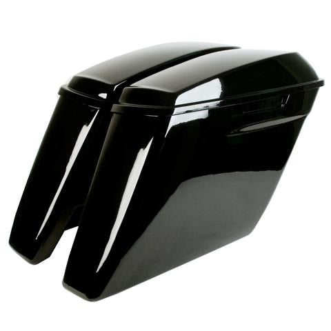"4.5"" Stretched Saddlebags for Harley Touring 2014 & Up (2 into 1/Dual Cutout)"