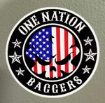 One Nation Baggers Round Stickers