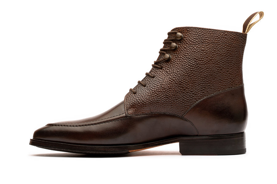 Grain Derby Boot - Dark Brown