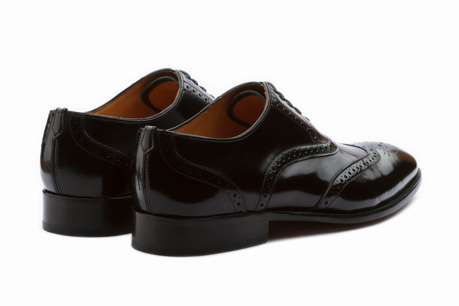 Wingtip Oxford Brogue - High Gloss Black