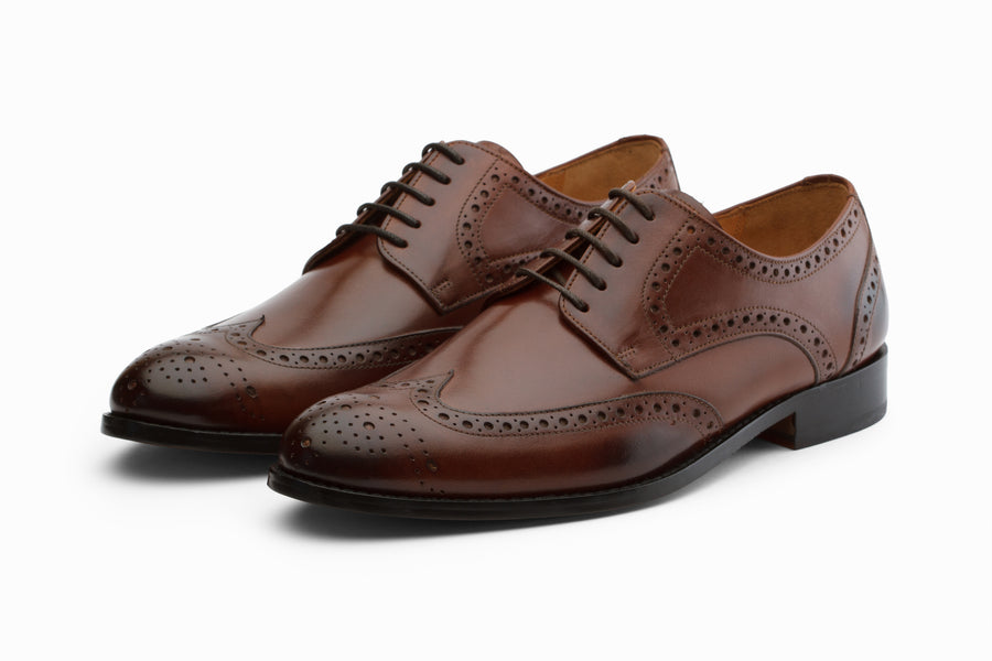 Wingtip Brogue Derby - Brown