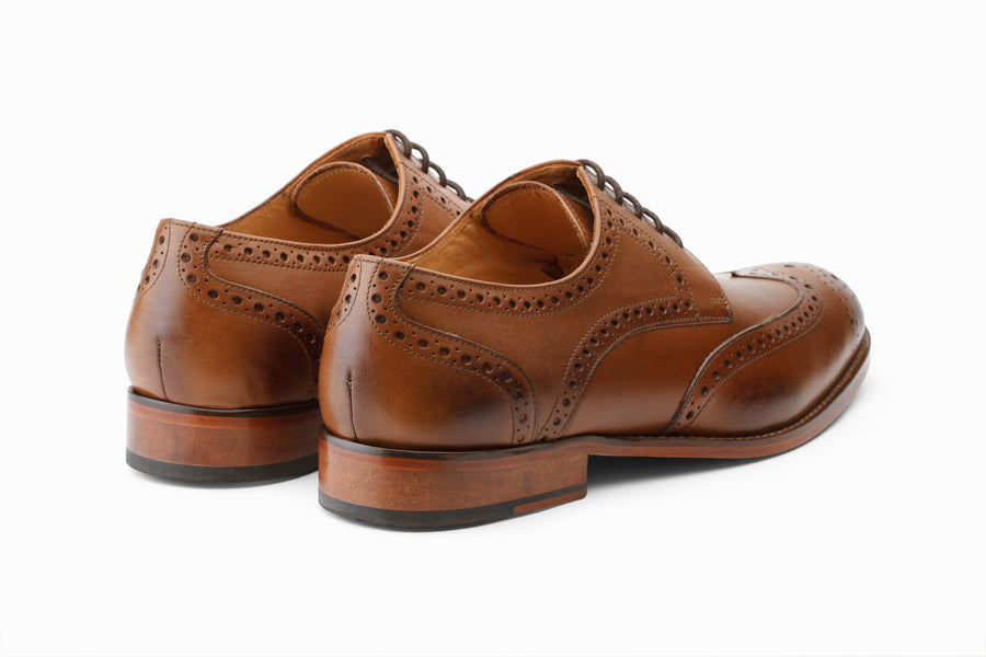Wingtip Brogue Derby - Tan