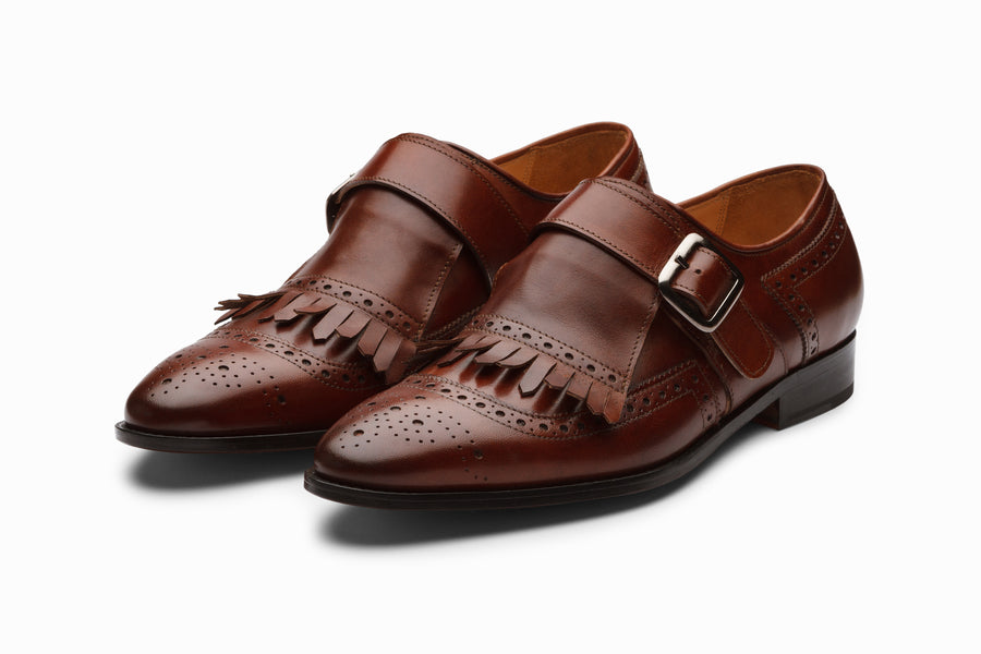 Medallion Toe Kiltie Monks - Sequoia