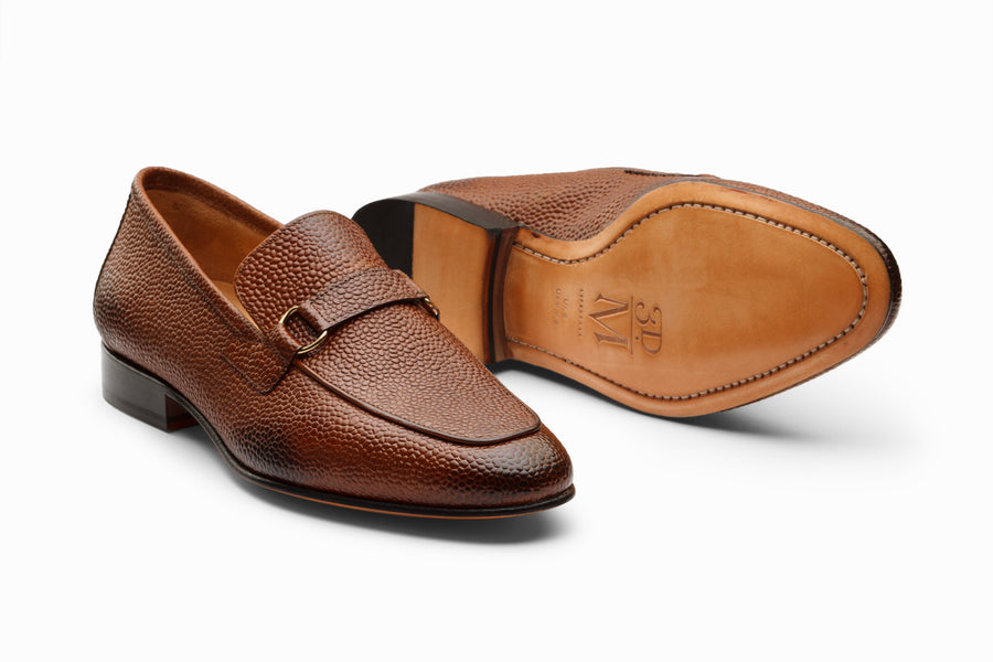 Lorenzo Leather Loafers- Cedar Grain