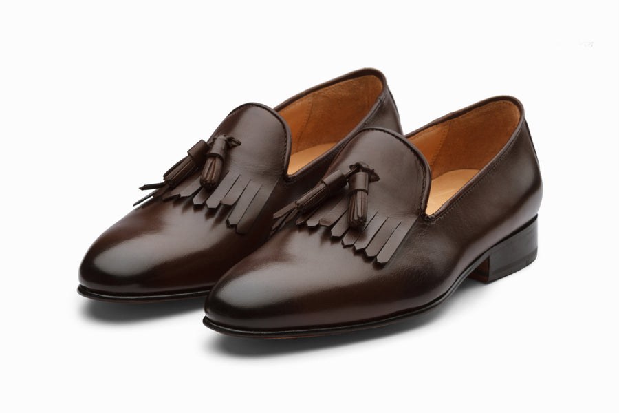 Tassel Loafers With Fringes - Dark Brown