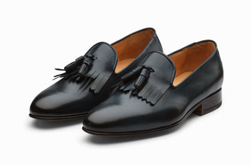 Tassel Loafers With Fringes - Navy