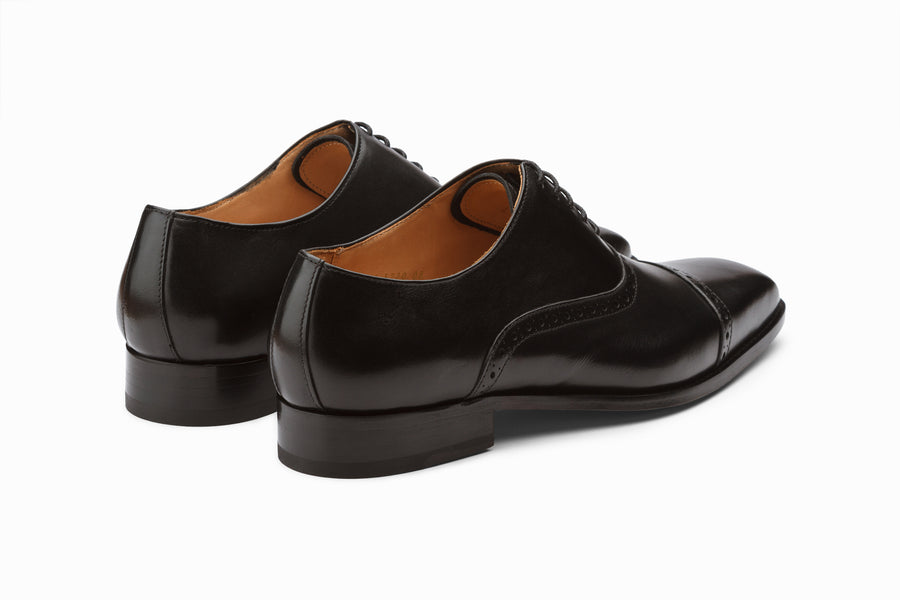 Toecap Brogue Oxford - Black