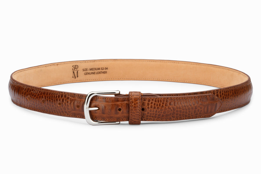 Profile Belt- Croc Brown