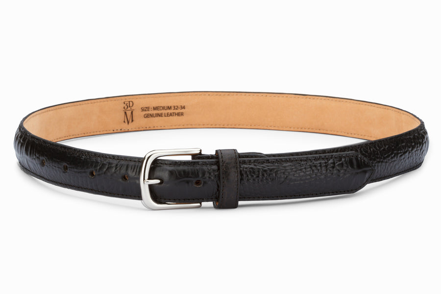 Profile Belt- Croc Black