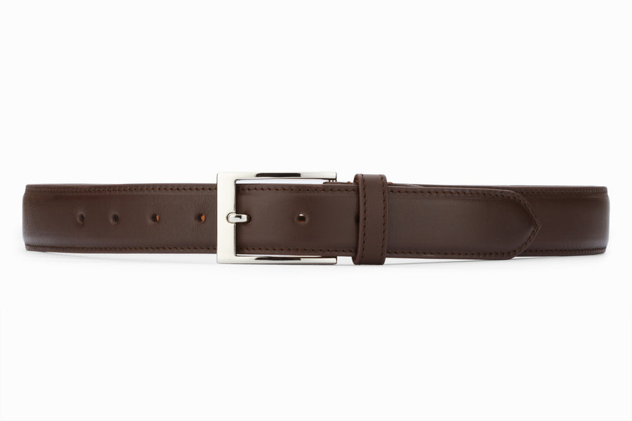 Flat Belt- Dark Brown