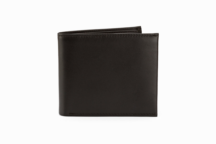 Slim Leather Wallet - Black