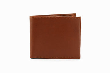 Slim Leather Wallet - Medium Brown
