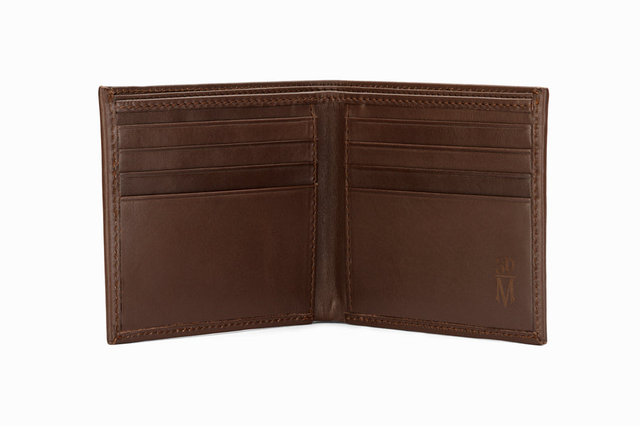 Slim Leather Wallet - Dark Brown