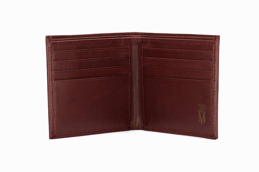 Slim Leather Wallet - Burgundy
