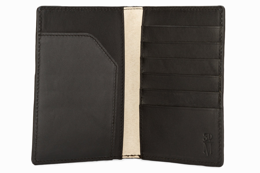 Passport Leather Wallet - Black