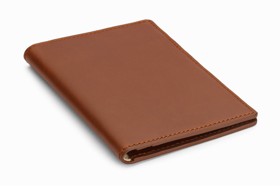 Passport Leather Wallet - Brown