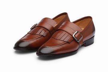 Fringe Loafers - Dark Cognac