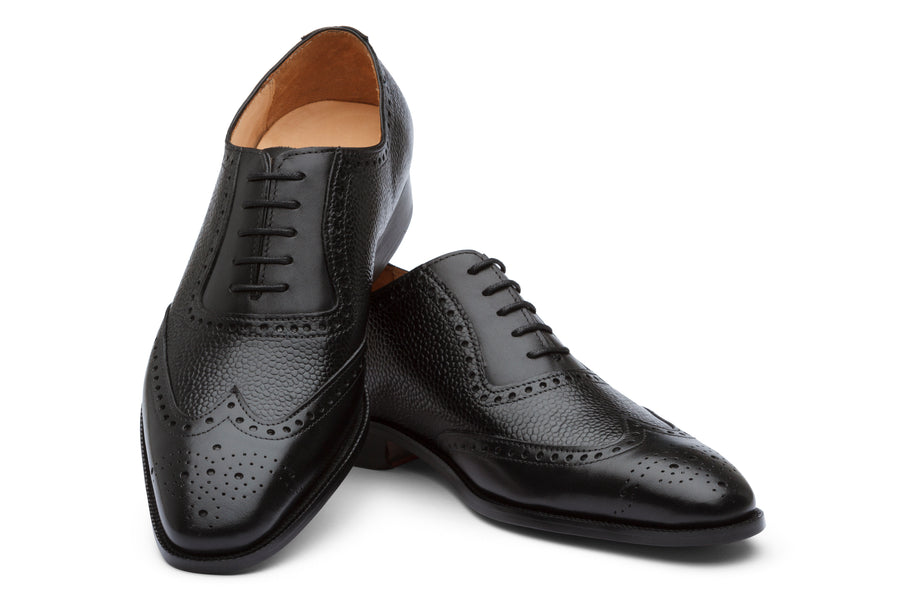 Wingtip Oxford Brogue - Black Grain