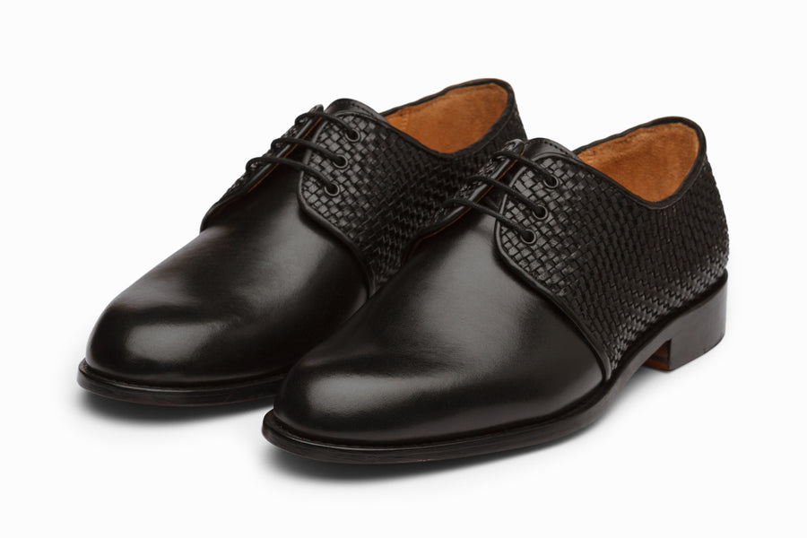 Plain Toe Derby - Woven Black