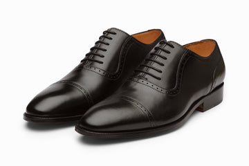 Quarter Brogue Oxford - Black