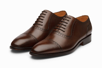 Quarter Brogue Oxford - Dark Brown