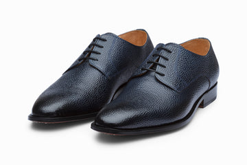 Plain Derby - Navy Grain