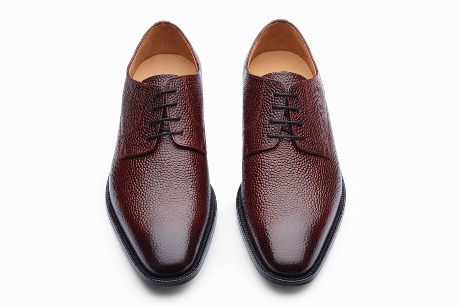 Plain Derby - Burgundy Grain