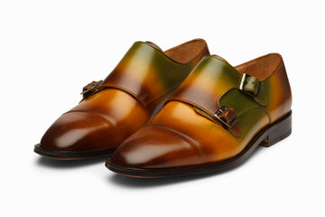 Double Monkstrap - Multi Color Patina Finish