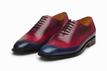 Wholecut Oxford - Blue/Pink/Purple Patina Finish