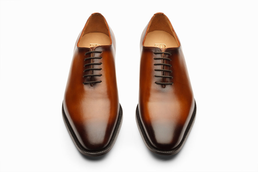Wholecut Oxford - Brown Patina Finish