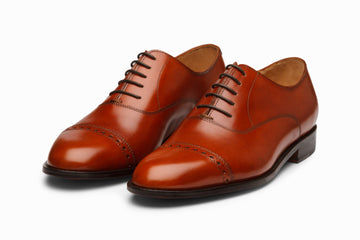 Quarter Brogue Oxford - Reddish Tan
