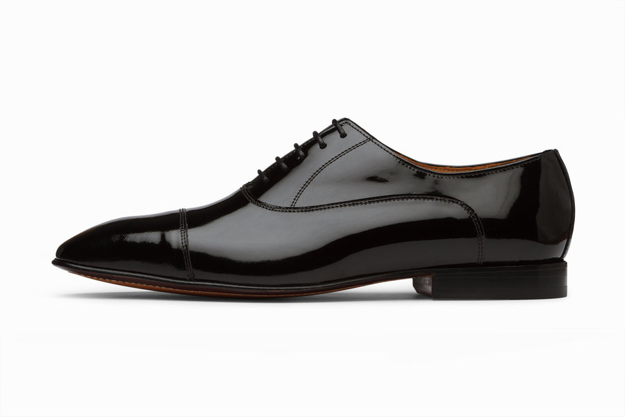 Captoe Oxford - Black Patent Leather