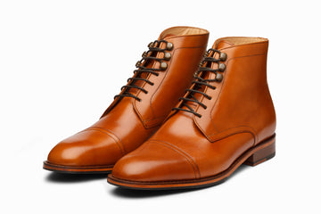 TOECAP DERBY BOOT - TAN