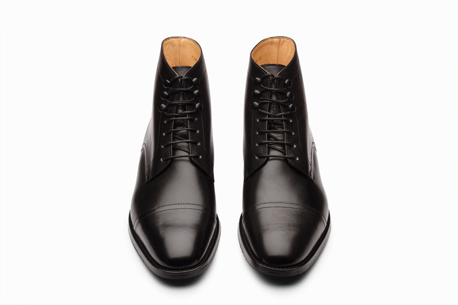 TOECAP DERBY BOOT - BLACK