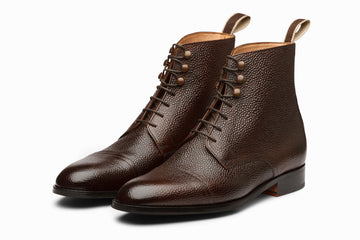 3DM X MSP - Field Grain Leather Boots - Dark Brown Grain